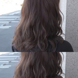 外国人風 ゆるふわ フェミニン グレージュ ヘアスタイルや髪型の写真・画像