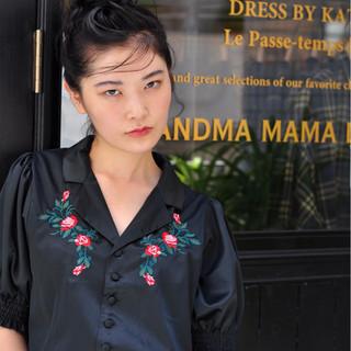 大人女子 簡単ヘアアレンジ 色気 ストリート ヘアスタイルや髪型の写真・画像
