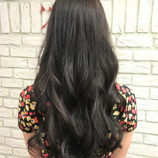 コンサバ イルミナカラー ロング 外国人風 ヘアスタイルや髪型の写真・画像