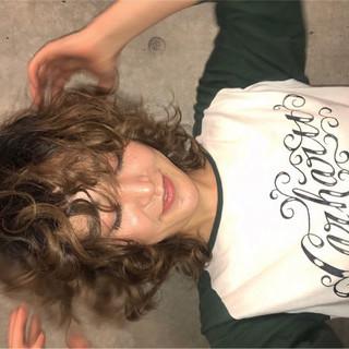 ニュアンス 前髪あり ストリート ミディアム ヘアスタイルや髪型の写真・画像