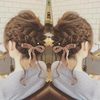 上品 エレガント ミディアム 結婚式 ヘアスタイルや髪型の写真・画像
