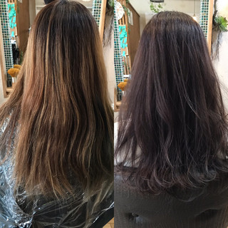 ブリーチオンカラー ロング 透明感 ナチュラル ヘアスタイルや髪型の写真・画像