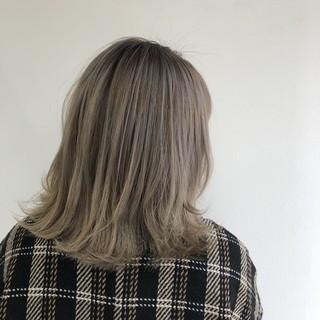 ナチュラル バレイヤージュ ミルクティーベージュ バックコーミング ヘアスタイルや髪型の写真・画像 | 【Peace 花堂】 hiro / hybrid salon peace by holistic&organic