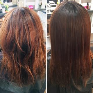 髪質改善 髪質改善トリートメント 脱縮毛矯正 ロング ヘアスタイルや髪型の写真・画像 ヘアスタイルや髪型の写真・画像