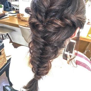 パーマ フェミニン ヘアアレンジ パーティ ヘアスタイルや髪型の写真・画像