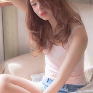 モテ髪 ゆるふわ ロング 外国人風 ヘアスタイルや髪型の写真・画像