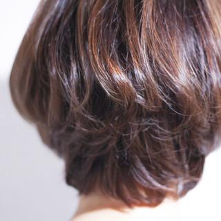 ナチュラル 美シルエット ボブ ひし形 ヘアスタイルや髪型の写真・画像