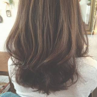 ハイライト ナチュラル 春 ミディアム ヘアスタイルや髪型の写真・画像