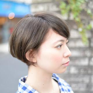 ショート ショートボブ アッシュ 外国人風 ヘアスタイルや髪型の写真・画像
