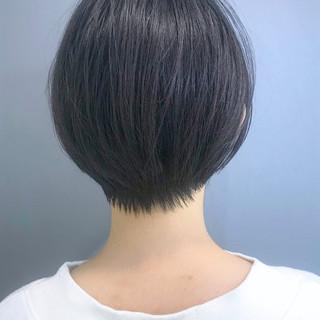 ナチュラル 黒髪 ショート 大人かわいい ヘアスタイルや髪型の写真・画像