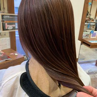 エレガント 大人ハイライト 秋冬スタイル ロング ヘアスタイルや髪型の写真・画像