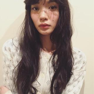 簡単 パーマ ゆるふわ 暗髪 ヘアスタイルや髪型の写真・画像