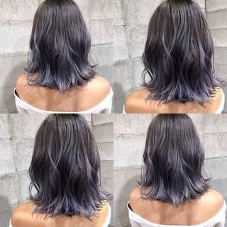 ロング モード 外国人風カラー グラデーションカラー ヘアスタイルや髪型の写真・画像