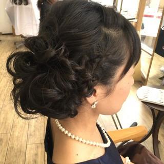 大人かわいい ヘアアレンジ セミロング 夏 ヘアスタイルや髪型の写真・画像 ヘアスタイルや髪型の写真・画像