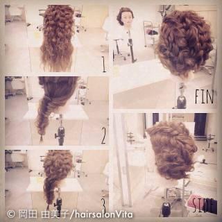 ショート 結婚式 簡単ヘアアレンジ 三つ編み ヘアスタイルや髪型の写真・画像