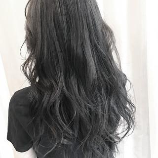 暗髪女子 ロング ナチュラル 暗髪 ヘアスタイルや髪型の写真・画像