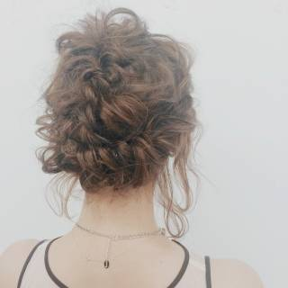 簡単ヘアアレンジ ショート ヘアアレンジ モテ髪 ヘアスタイルや髪型の写真・画像