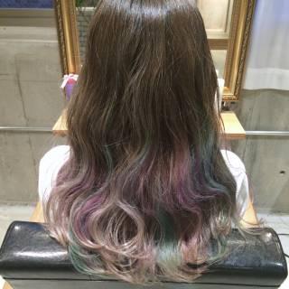 パンク グラデーションカラー 春 ハイトーン ヘアスタイルや髪型の写真・画像