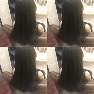 暗髪 黒髪 アッシュ 大人かわいい ヘアスタイルや髪型の写真・画像