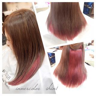 グラデーションカラー インナーカラー ナチュラル 個性的 ヘアスタイルや髪型の写真・画像 ヘアスタイルや髪型の写真・画像