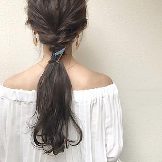 デート 秋 ロング ヘアアレンジ ヘアスタイルや髪型の写真・画像