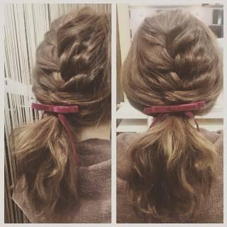 簡単ヘアアレンジ ヘアアレンジ 編み込み ストリート ヘアスタイルや髪型の写真・画像