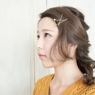 三つ編み 大人女子 小顔 ヘアアレンジ ヘアスタイルや髪型の写真・画像