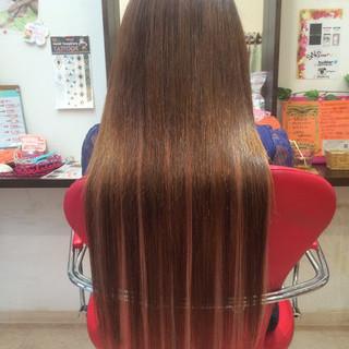 ハイライト ロング ガーリー エクステ ヘアスタイルや髪型の写真・画像