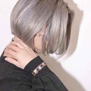 透明感 冬 ボブ ストリート ヘアスタイルや髪型の写真・画像