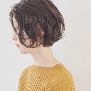 ショート 無造作 大人女子 エフォートレス ヘアスタイルや髪型の写真・画像