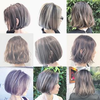 バレイヤージュ ナチュラル ハイライト グラデーションカラー ヘアスタイルや髪型の写真・画像