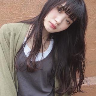 ロング 暗髪 大人かわいい 黒髪 ヘアスタイルや髪型の写真・画像