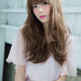 大人かわいい フェミニン 外国人風 ブラウン ヘアスタイルや髪型の写真・画像