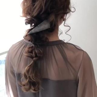 ロング 結婚式ヘアアレンジ 簡単ヘアアレンジ 編みおろしヘア ヘアスタイルや髪型の写真・画像