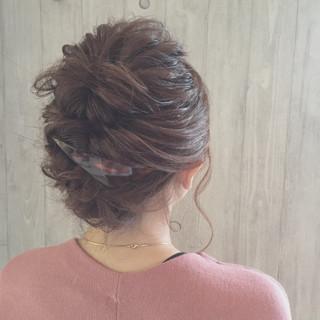 バレッタ くるりんぱ ボブ ヘアアレンジ ヘアスタイルや髪型の写真・画像 ヘアスタイルや髪型の写真・画像