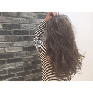 大人かわいい 外国人風 ロング ハイライト ヘアスタイルや髪型の写真・画像