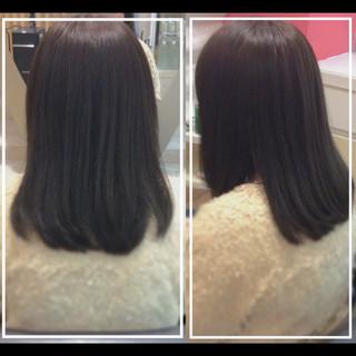 ナチュラル 社会人の味方 髪質改善トリートメント 髪質改善カラー ヘアスタイルや髪型の写真・画像