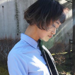 黒髪 小顔 ボブ 色気 ヘアスタイルや髪型の写真・画像