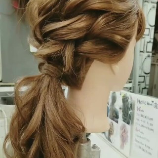 セミロング デート フェミニン ハロウィン ヘアスタイルや髪型の写真・画像