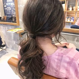 女子会 ロング ナチュラル 簡単ヘアアレンジ ヘアスタイルや髪型の写真・画像