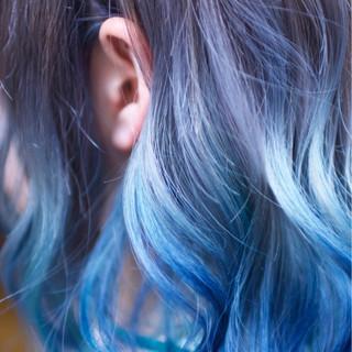 ダブルカラー ミディアム ストリート ハイライト ヘアスタイルや髪型の写真・画像