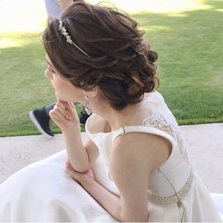 ロング 結婚式 エレガント パーティ ヘアスタイルや髪型の写真・画像