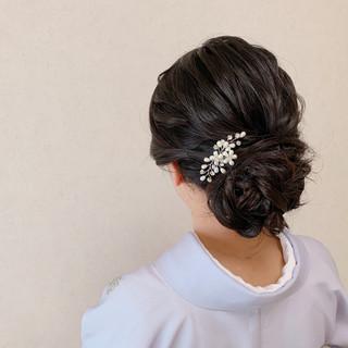 ヘアアレンジ 訪問着 結婚式 結婚式髪型 ヘアスタイルや髪型の写真・画像