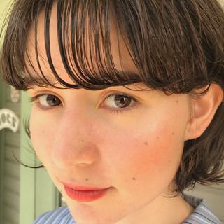 ミニボブ デート 前髪あり 抜け感 ヘアスタイルや髪型の写真・画像