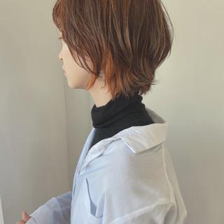 ショート ハイライト ナチュラル ショートヘア ヘアスタイルや髪型の写真・画像