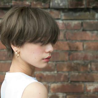 アンニュイほつれヘア ハンサムショート アッシュ ショート ヘアスタイルや髪型の写真・画像 ヘアスタイルや髪型の写真・画像