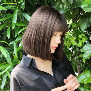 ハイライト デート 大人女子 ボブ ヘアスタイルや髪型の写真・画像