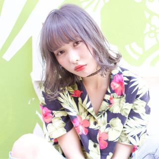 ミディアム 外国人風 ロブ ゆるふわ ヘアスタイルや髪型の写真・画像