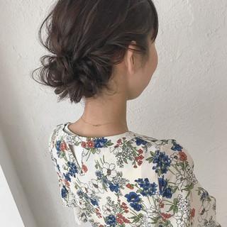ヘアアレンジ 結婚式 大人かわいい ミディアム ヘアスタイルや髪型の写真・画像
