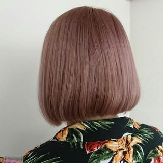 ハイトーン ピンクアッシュ ピンク ベージュ ヘアスタイルや髪型の写真・画像 ヘアスタイルや髪型の写真・画像
